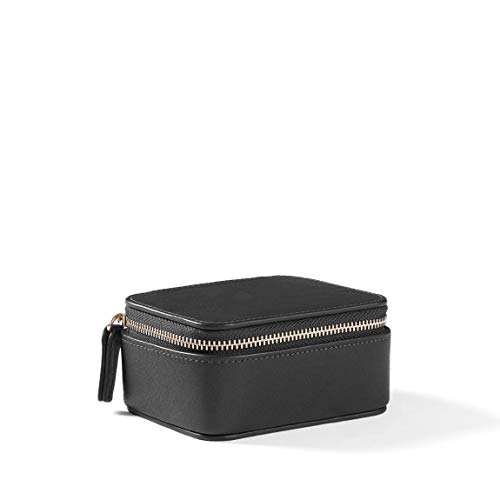Small Jewelry Organizer - Full Grain Leather Leather - Black Onyx ()