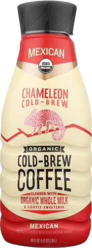 Chameleon Organic Cold Brew Coffee with Dairy Free Oat Milk 46 ounce (Pack of 6) (Mexican)