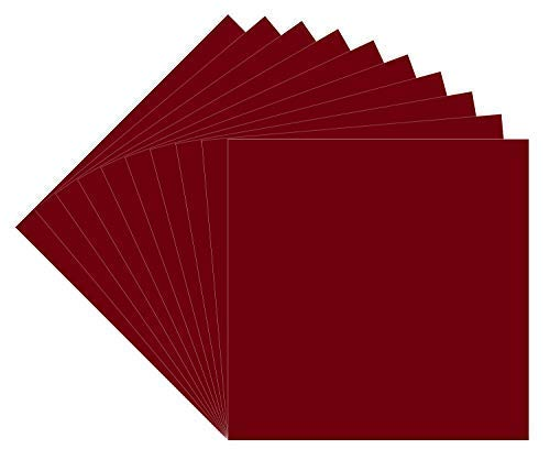 "10 Burgundy Oracal 651 Vinyl Sheets, 12x12"" Burgundy Permanent Adhesive Backed Vinyl Sheets, Craft Vinyl for Indoor/Outdoor Lettering, Marking, Decorating,Car Decals,Window Graphics, For Craft Cutters"