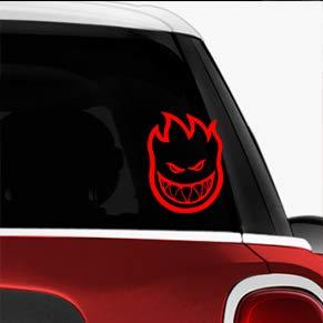 (Spitfire Wheels Red SK8/Surf/Snow/Water/Bike/Brands Automotive Decal/Bumper Sticker)