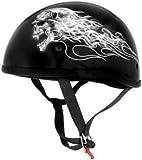Skid Lid Helmets Sl Original Biker Skull Xs Half Helmets Pn:646926