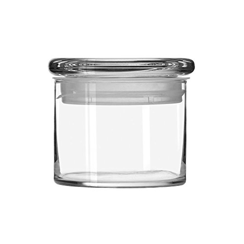Libbey 15-Ounce Cylinder Jar with Glass Lid, Set of 6