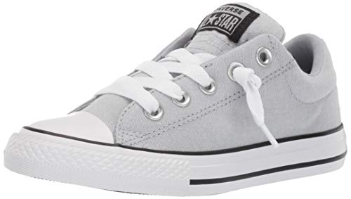 5a63dd8b9dca Converse Boys Kids  Chuck Taylor All Star Street Knotted Laces Slip On  Sneaker Wolf Grey