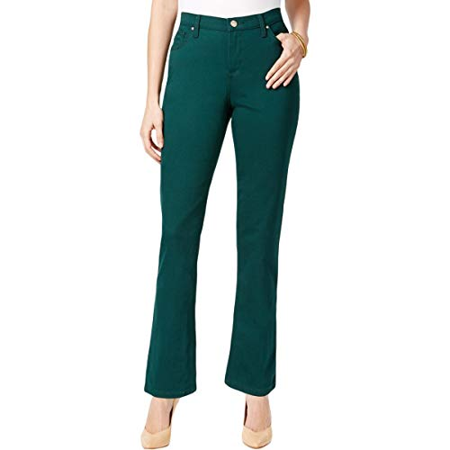 Lee Platinum Label Womens Petites Gwen Colored Straight Leg Jeans Green 6P ()
