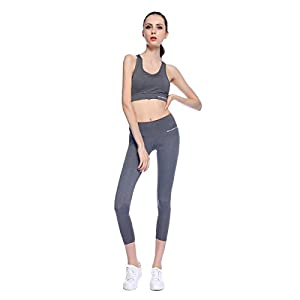 Bonjanvye Running Bra And Activewear Pants Yoga Clothing Sets for Women Sport Clothing