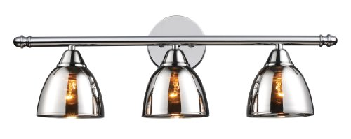 picture of Elk 10072/3 Reflections 3-Light Vanity In Polished Chrome