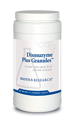 Biotics Research Dismuzyme Plus GranulesTM -1200 mcg SOD, 1200 mcg Catalase, High Antioxidant Activity, Supports Immune System, Healthy Inflammatory Pathways. Contains: 17.9 Ounces (500 g)(62 servings)