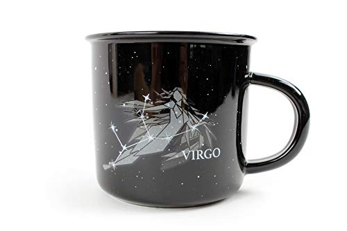 - Stargazer VIRGO Astrology Camp Mugs by Creature Cups | Ceramic Horoscope 13.5 Ounce Cups with Traits Revealed Inside | Birthday Constellation Signs | Holiday Gift for Coffee & Tea Lovers