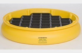 Eagle 1615 Single-Drum HDPE Spill Tray w/Grating, 31