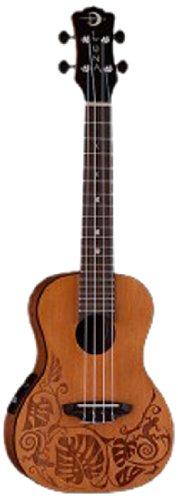 (Luna UKEMOCDR Mo'o Solid Cedar Top Full Concert Ukulele, Rosewood Fingerboard with Gig Bag, Natural)