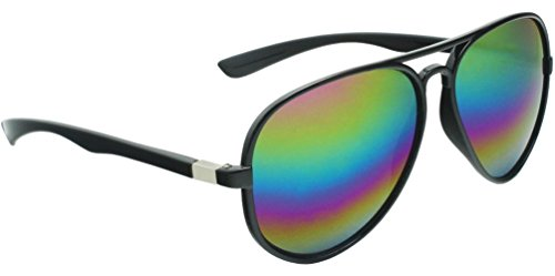 True Gear iShield Plastic Aviator Sunglasses with Prismatic Rainbow Colored - Rainbow Aviators