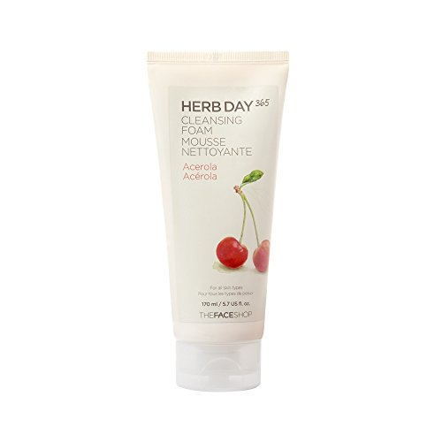 The-Face-Shop-Herb-Day-Cleansing-Cleansing-Foam-Acerola-170mlMade-in-Korea