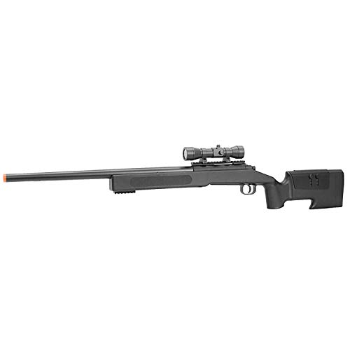 BBTac Airsoft Sniper Rifle M62 - Bolt Action Powerful Spring Airsoft Gun, Extreme Powerful FPS with .20g 6mm - Rifle Metal Sniper