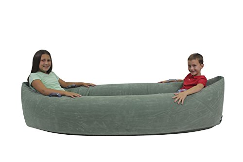 Abilitations 1512741 Inflatable Pea Pod, Kindergarten to 5, 4 to 12 Years, 21.5'' Height, 37'' Wide, 80'' Length, Vinyl, X-Large, Green by Abilitations