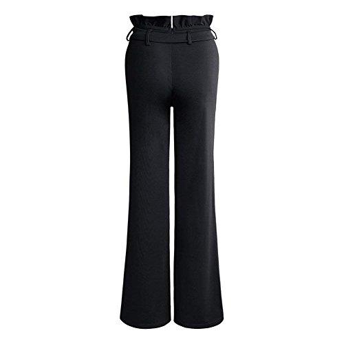 Donne Tuta Larghi Nero Slim Donna Pantaloni Waist Fashion Pantalone High Primaverile Palazzo Autunno Pantalone Casuale Lunga Elegante Cintura Pantaloni Nero Inclusa Battercake Fit OxPnT7T