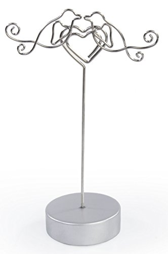 - Displays2go Wedding Reception Place Card Holders in Lovebirds Embracing Heart, 4.8-Inch, Set of 25