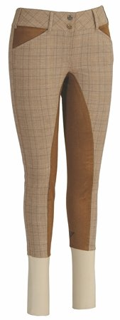 - TuffRider Ladies Highland Bamboo Plaid Full Seat Breeches