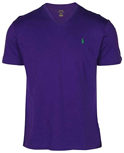 Polo Ralph Lauren Men's Classic Fit V-Neck T-Shirt Cotton, Blue, Size ()