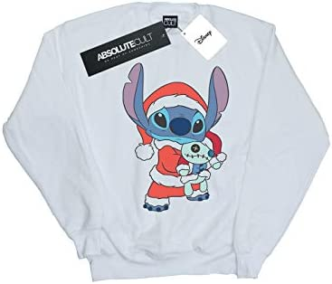 Disney Herren Lilo and Stitch Stitch Christmas Sweatshirt Weiß Small