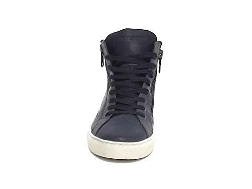 Uomo 11329 A8102 Camoscio Crime blu Grigio E Pelle Sneakers London gEgq5wz