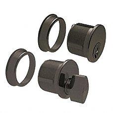 CRL Dark Bronze Anodized Keyed Cylinder and Thumbturn Combo - DRA1020DU (Standard Keyed Cylinder)