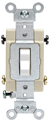 Leviton S02-CS415-2WS White Commercial Grade 4-Way AC Quiet Switch Toggle ()