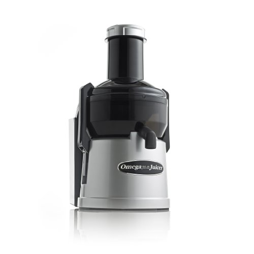 Omega BMJ300 Mega Mouth Pulp Ejection Juicer with Black Plastic Bowl