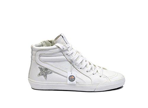 Golden Goose Hi Top Sneakers Donna G30WS595CRT Pelle Bianco