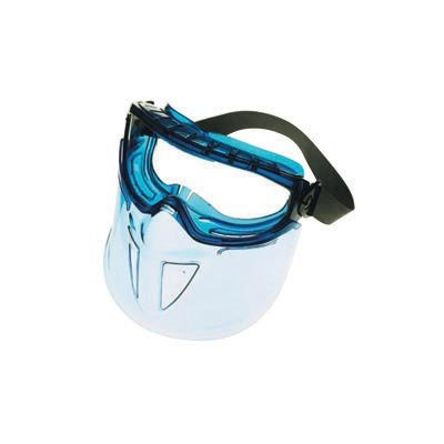 Frame Clear Xtr Lens - Kimberly-Clark Professional* Jackson Safety* V90 Shield Monogoggle* XTR Indirect Vent Splash Goggles With Blue Frame, Clear Anti-Fog Lens And Polycarbonate Face Shield