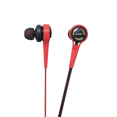 Elecom Ehp-ca3580rd Stereo Headphone Canal Grand Bass System 15.4mm Driver Red Japan Import