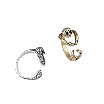 World End Imports Gold Sloth Wrap Ring -