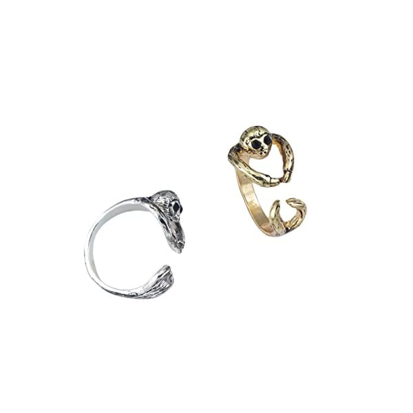 World End Imports Silver Sloth Wrap Ring -