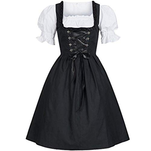 Wench Halloween Makeup (Women's Halloween Plus-Size Cosplay Costume Bavarian Oktoberfest Carnival Maid Dress, S-5XL (3X-Large))