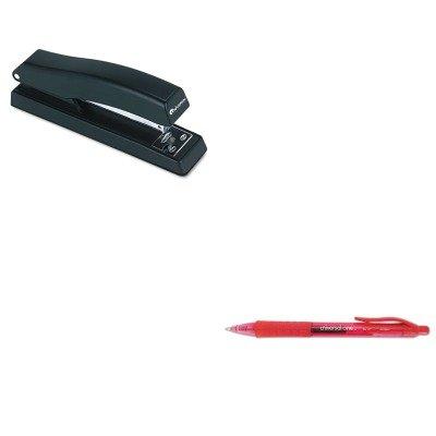 KITUNV39914UNV43118 - Value Kit - Universal Clear Barrel Roller Ball Retractable Gel Pen (UNV39914) and Universal Economy Full Strip Stapler ()