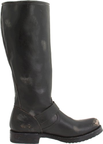 Freak Womens Veronica Slouch Boot Nero Stone Wash Leather-77619