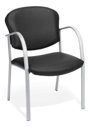 OFM 414-VAM-606 Contract Guest Vinyl Chair, Black by OFM