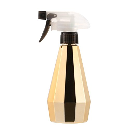 Pot Polish Flower (LiPing Hairdressing Spray Bottle Salon Barber Hair Tools Water Sprayer Hair Cutting and Hair Grooming/Easy to water the flowers Indoor Mini Watering Pot for Home Decor (D, Gold))