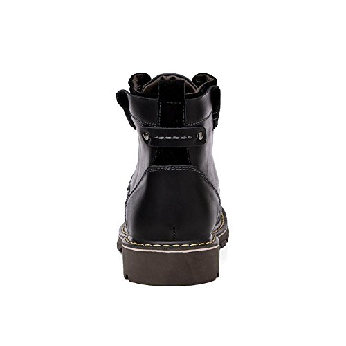 Idea Frames Mens Lace up Motorcycle Combat Boots Ankle High Oxford Fashion Sneaker Black FPezAeq2x