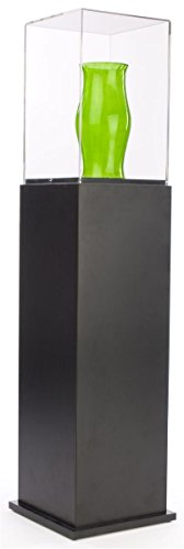 Black Laminate Display Pedestal and Clear Acrylic Case with Locking Screw - 52.5' tall