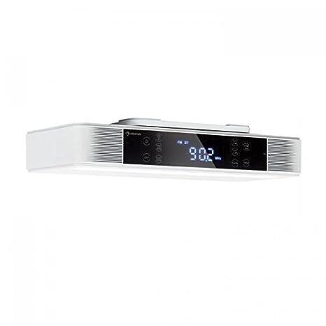 auna KR-140 Radio de cocina Bluetooth - Instalación bajo mueble , Función manos libres , Radio FM , 40 emisoras , Alarma dual programable , ...