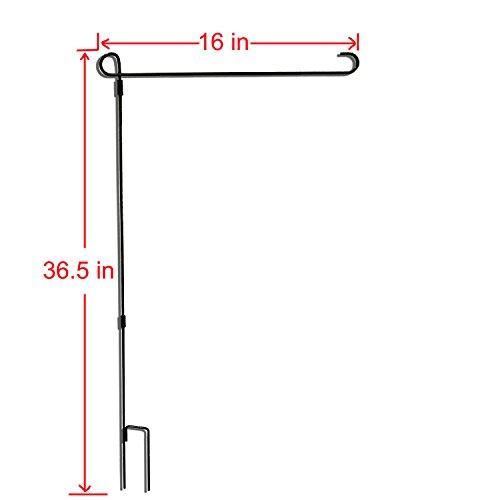 """Deerdee Garden Flag Stand 36.5"""" Hx16 W Flag Pole Holder Meta"""