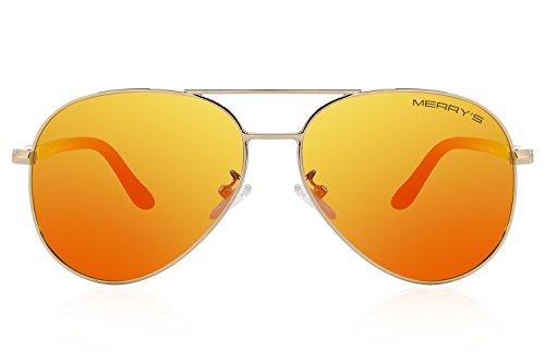 MERRYS Mens Polarized Driving Sunglasses For Men Women Sun glasses UV400 S8058 Red