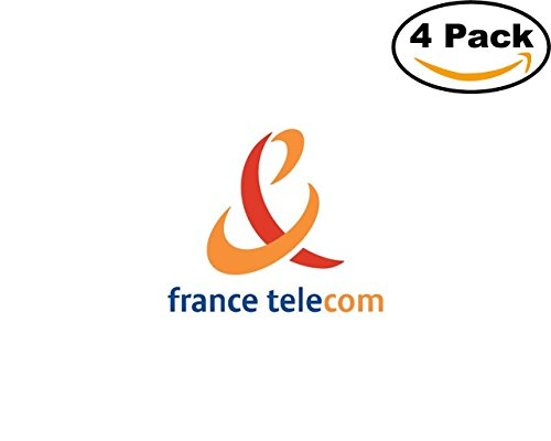 France Telecom Logo 01 4 Stickers 4X4 Inches Car Bumper Window Sticker Decal
