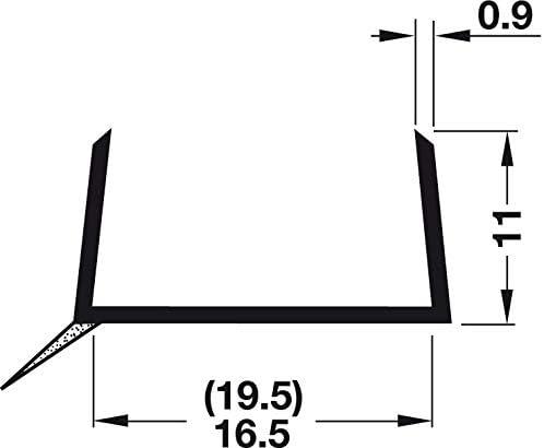 Pihami 8 /€//m Sockeldichtprofil K/üche Sockeldichtlippe 2500x16mm Kunststoff Graubraun f/ür K/üchenblende