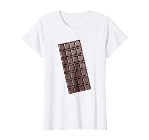 Womens Chocolate Bar Smores Halloween Costume Shirt Large White
