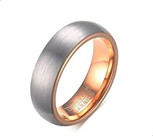 Unisex gold ring on the inside and silver on the outside made of tungsten with inner seal size 8