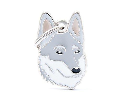 Médaille MyFamily Chien-loup Tchécoslovaque plaque chien gravure gratuite chat