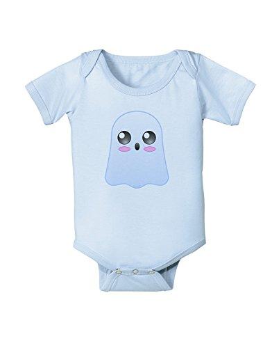 TooLoud Gabe The Cute Ghost - Halloween Baby Romper Bodysuit - Light Blue - 12 Months]()