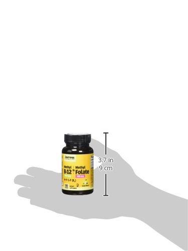 Jarrow Formulas Methyl B 12/Methyl Folate and Pyridoxal 5 phosphate (P 5 P) Lozenges, Supports Brain Health, 100 Count