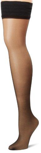 Hanes Silk Reflections Women's Lasting Sheer Thigh High, Jet, - Hanes Stockings